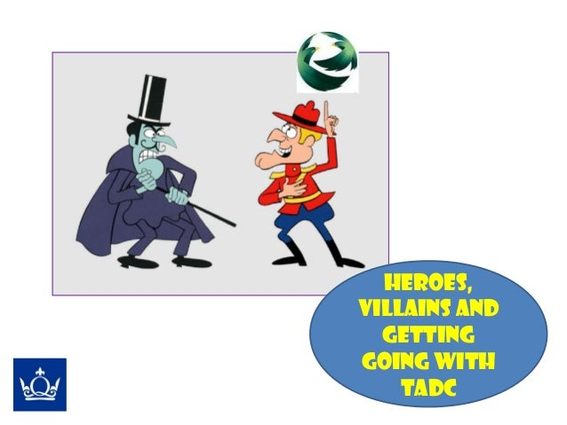 Heroes, villains & getting going with TADC (Anselm Nye, Queen Mary University of London)