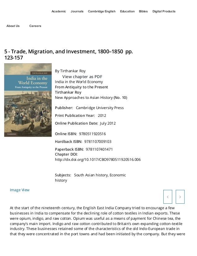 Academic  About Us  Journals  Cambridge English  Education  Bibles  Digital Products  Careers  5 - Trade, Migration, and I...