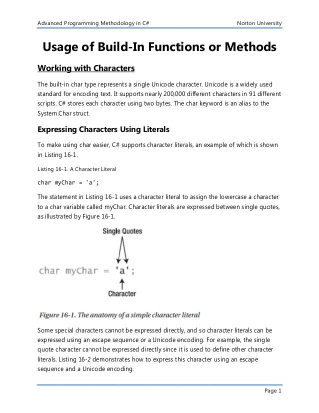 Chapter5: Usage of Build-In Functions or Methods