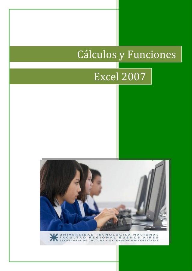 Cálculos y Funciones Excel 2007