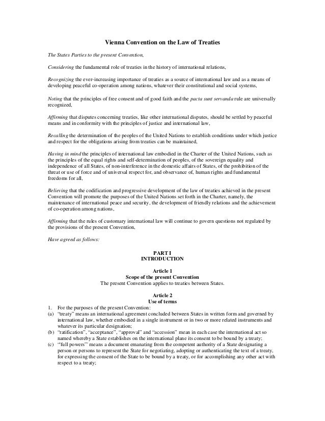 5. vienna convention on the law of treaties 1969