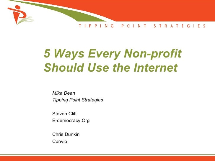 5 Ways Every Non-profit Should Use the Internet