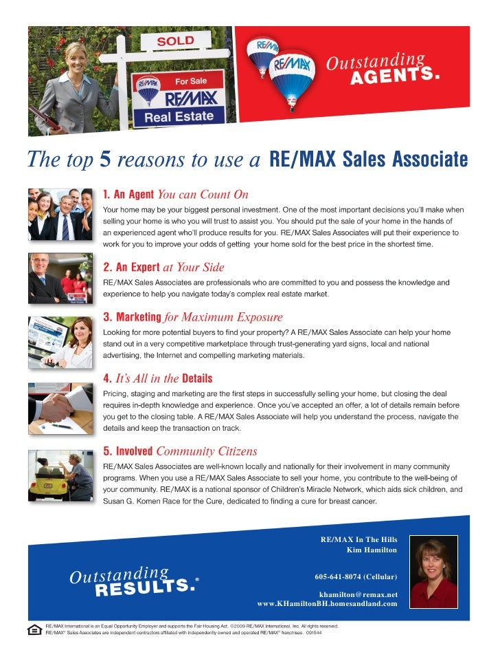 Why Use a Re/Max Agent?