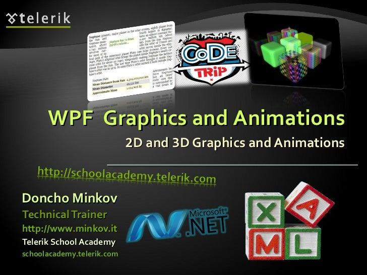 2 D and  3 D Graphics and Animations <ul><li>Doncho Minkov </li></ul><ul><li>Telerik School Academy </li></ul><ul><li>scho...