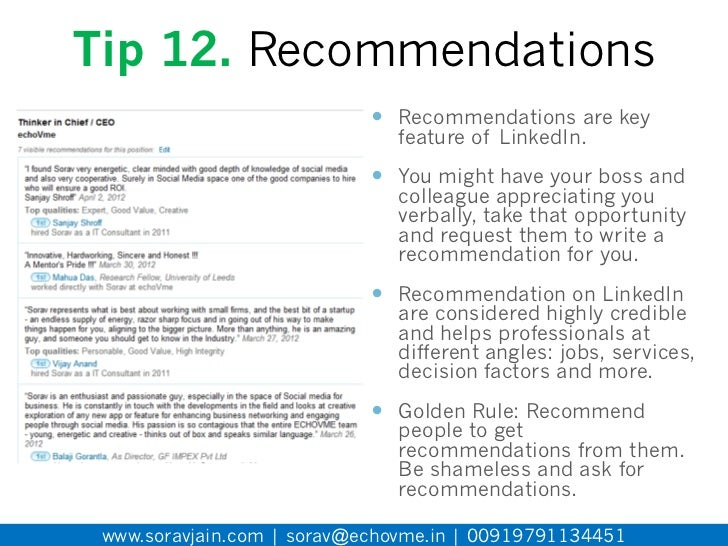 Consultant Tips