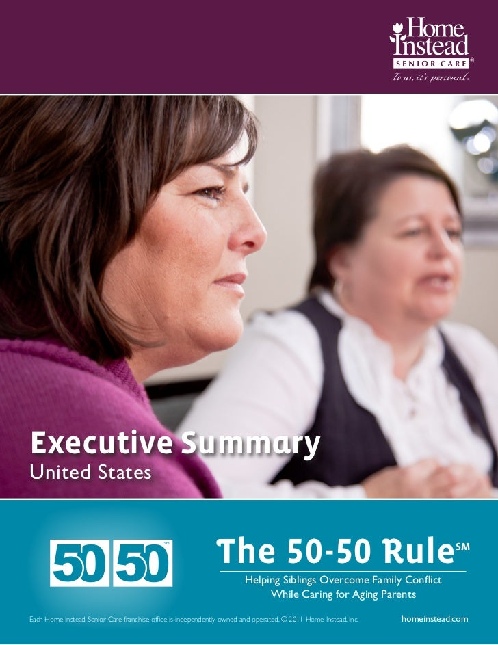 Home Instead Senior Care The 50-50 Rule for Caregiving Summary