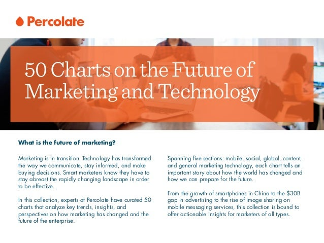 50ChartsontheFutureof MarketingandTechnology What is the future of marketing? Marketing is in transition. Technology has t...