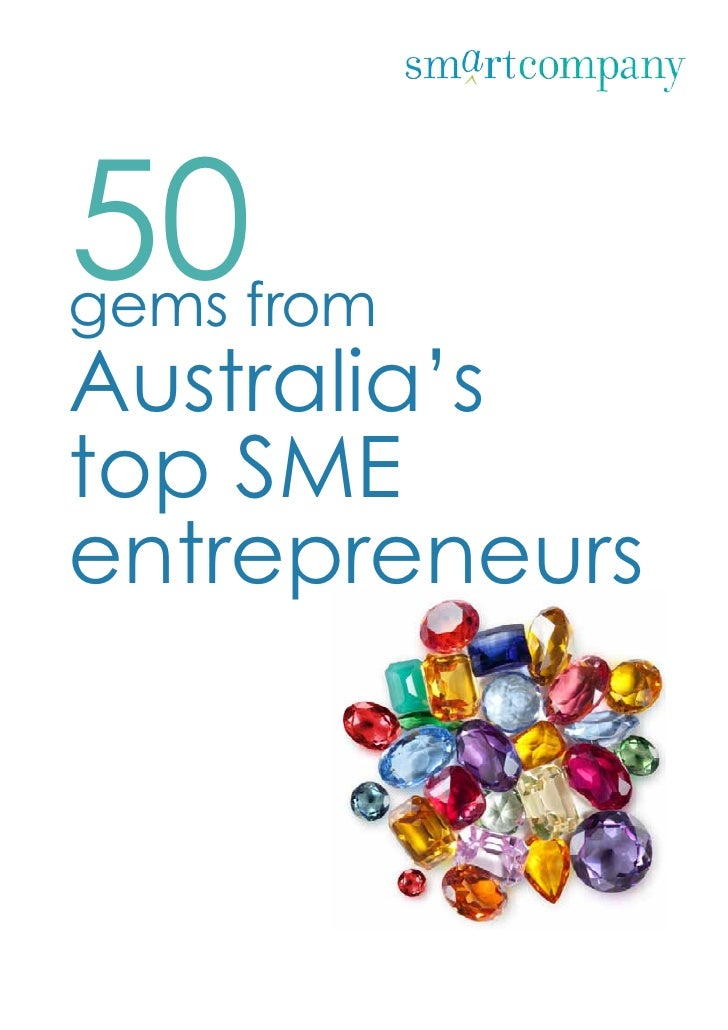 50gems fromAustralia'stop SMEentrepreneurs