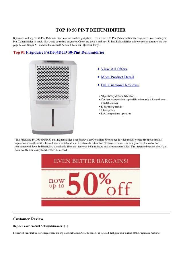 50 Pint Dehumidifier