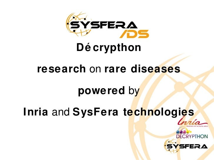 SysFera-DS & the Décrypthon project