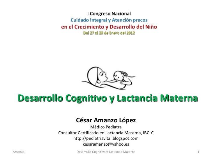 Desarrollo cognitivo y lactancia materna - CICAT-SALUD