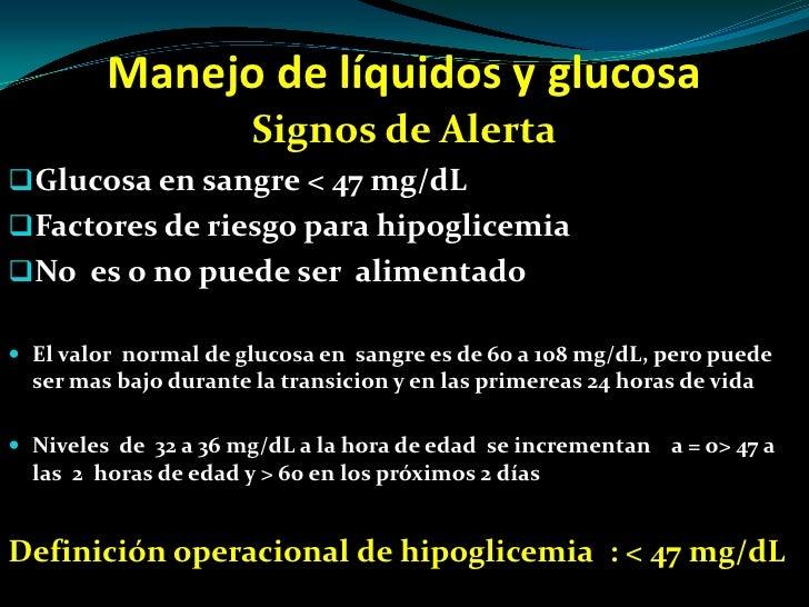 Manejo de liquidos y glucosa en el recien nacido - CICAT-SALUD
