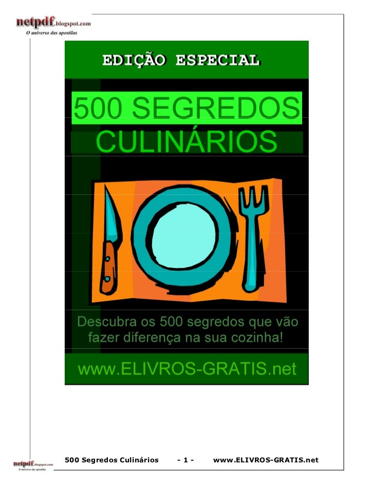 500 Segredos Culinários   -1-   www.ELIVROS-GRATIS.net