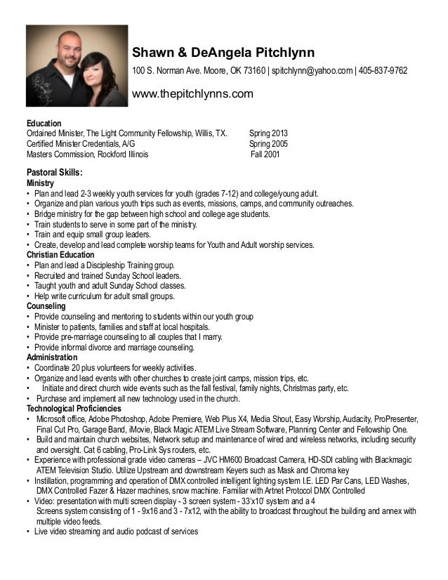 minister resume youth pastor resume template resources for