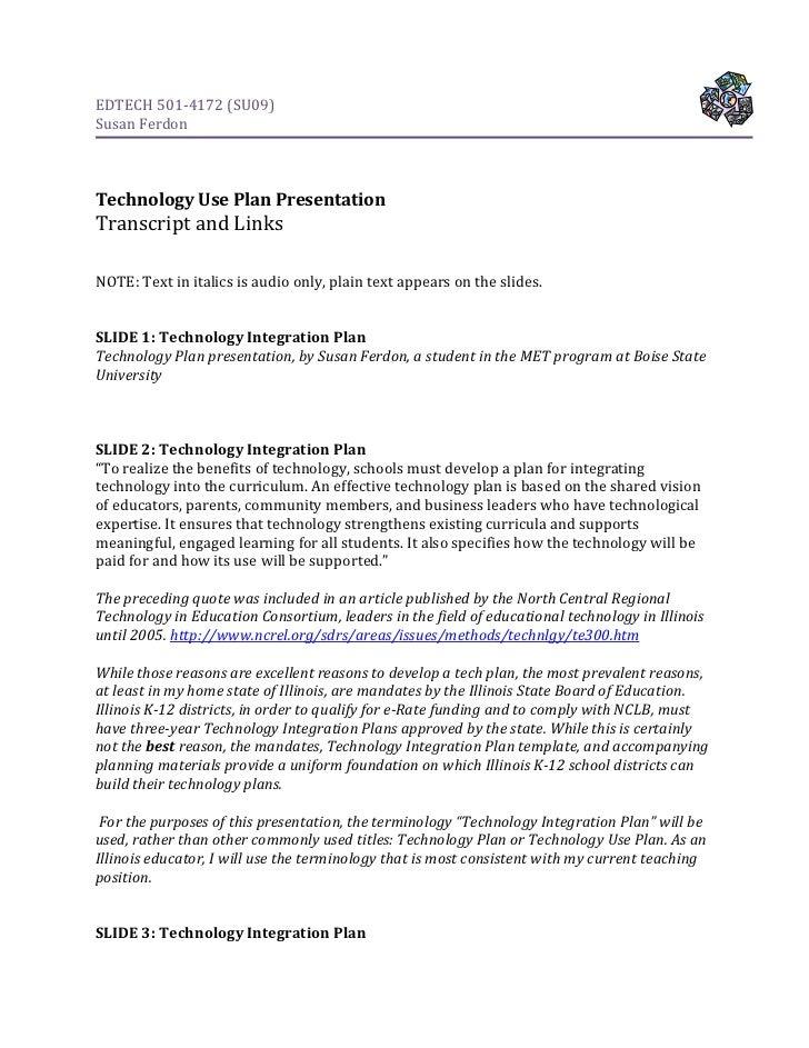 501ferdon techplantranscript