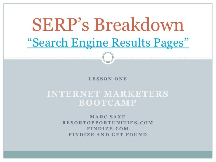 501, LP2 demonstration   discovery - serps breakdown, saxe