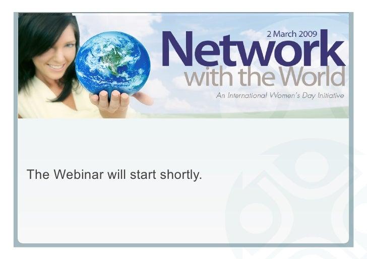 Business Women's Week - Network with the World webinar