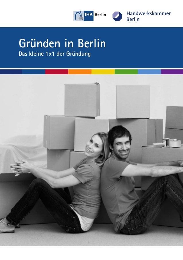 Gründen in Berlin Das kleine 1x1 der Gründung