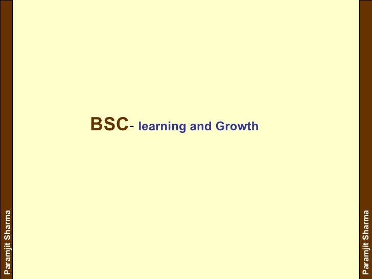 BSC -  learning and Growth