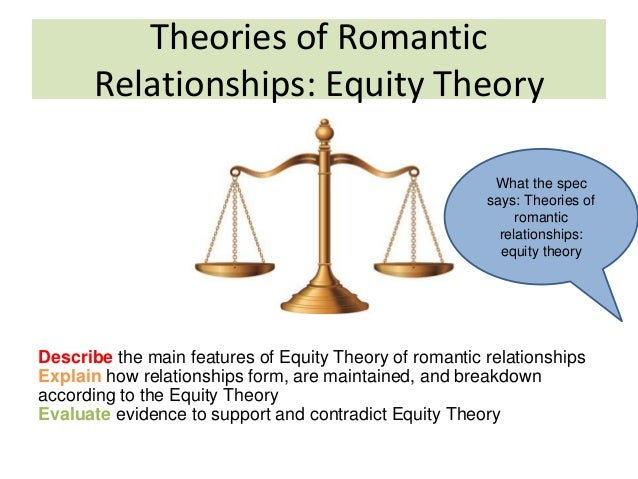 theories of relationships equity theory and Equity theory and motivation (case study)  relationships,  one of motivation theories is j stacey adams' equity theory of motivation which opens up.