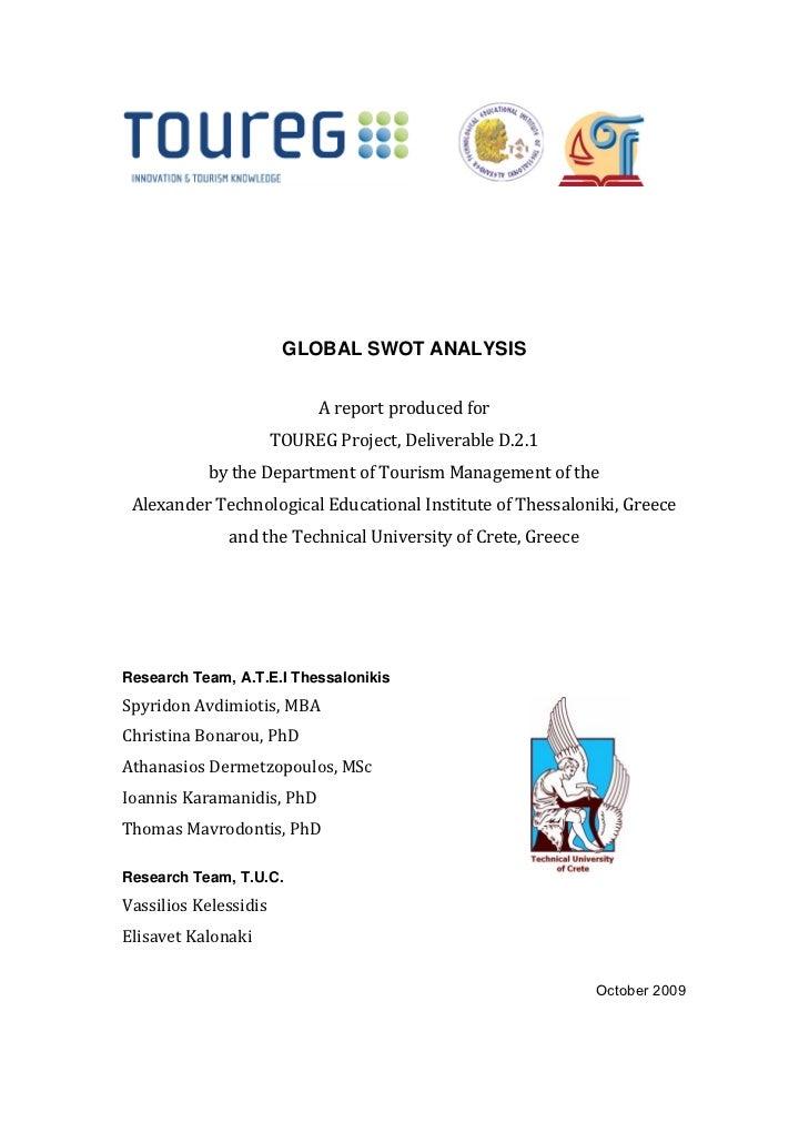 GLOBAL SWOT ANALYSIS                            Areportproducedfor                      T...