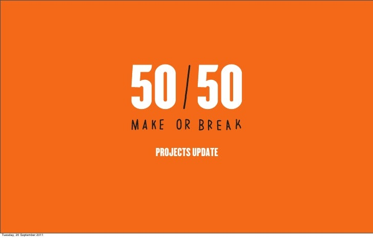 5050 project update