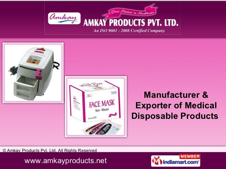 Manufacturer & Exporter of Medical Disposable Products