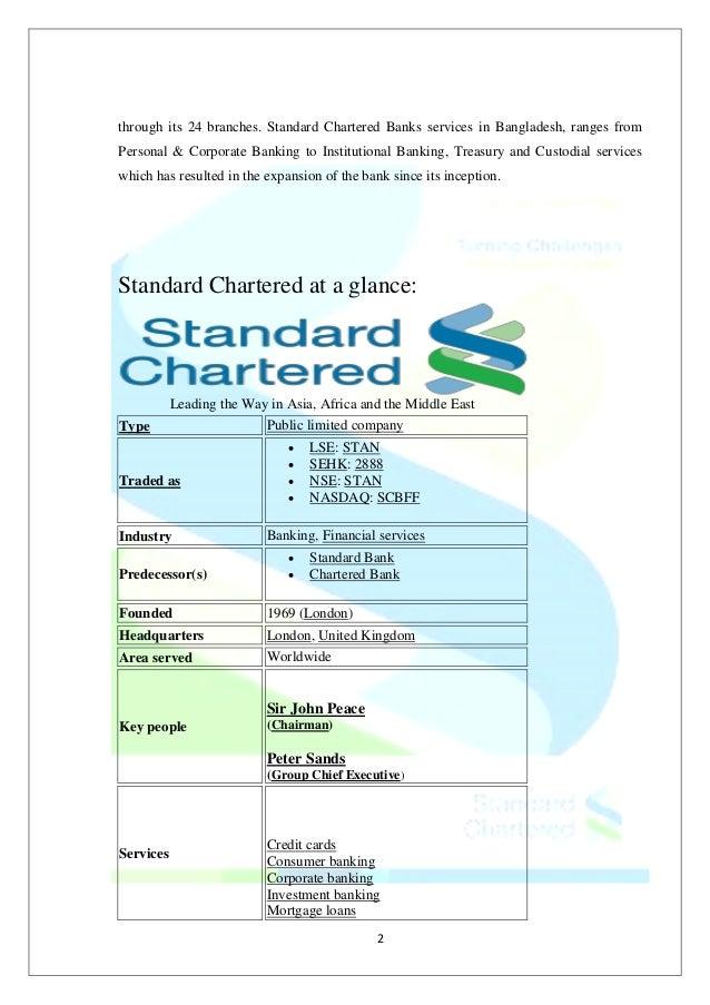 Standardchartered business model template renewal