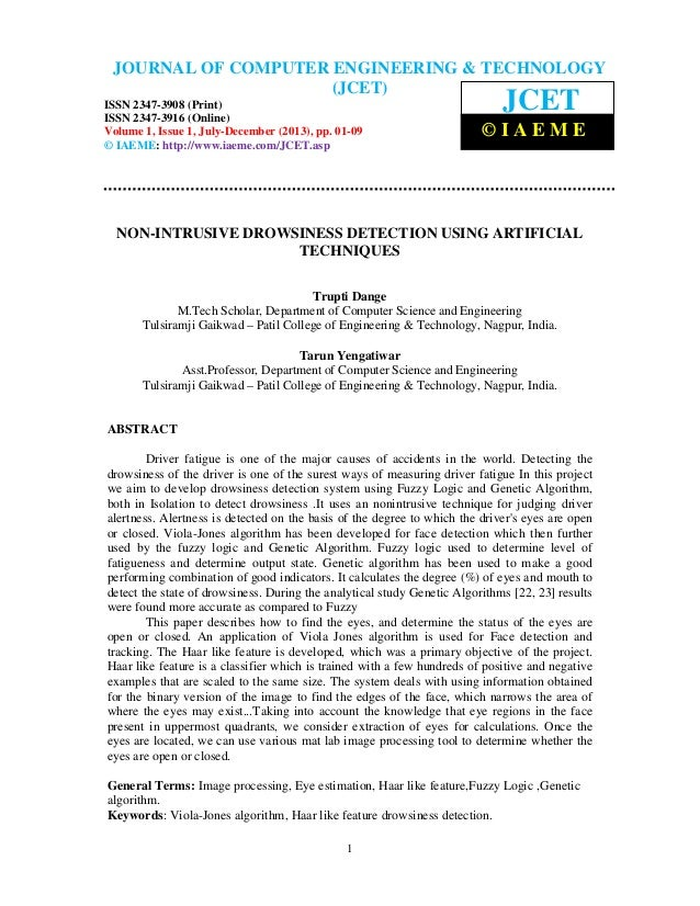 Journal of Computer Engineering & Technology (JCET) ISSN 2347-3908 (Print), ISSN 2347-3916 (Online), Volume 1, Issue 1, Ju...