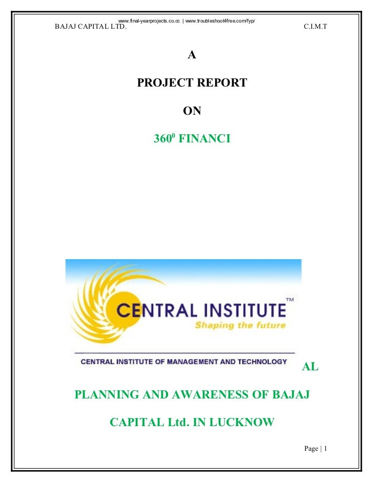 50633694 a-project-report-on-360-degree-fiancial-planning
