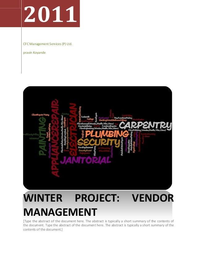 2011CFC Management Services (P) Ltd.pravin KoyandeWINTER PROJECT:                                                         ...
