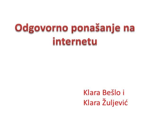 Klara Bešlo iKlara Žuljević