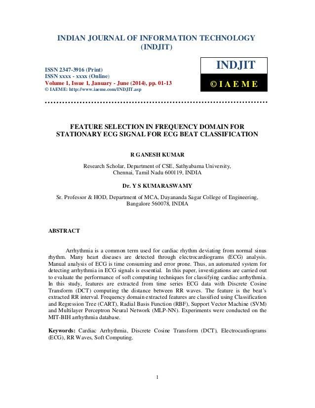 Indian Journal of Information Technology (INDJIT), ISSN 2347-3916 (Print), ISSN xxxx - xxxx (Online), Volume 1, Issue 1, J...