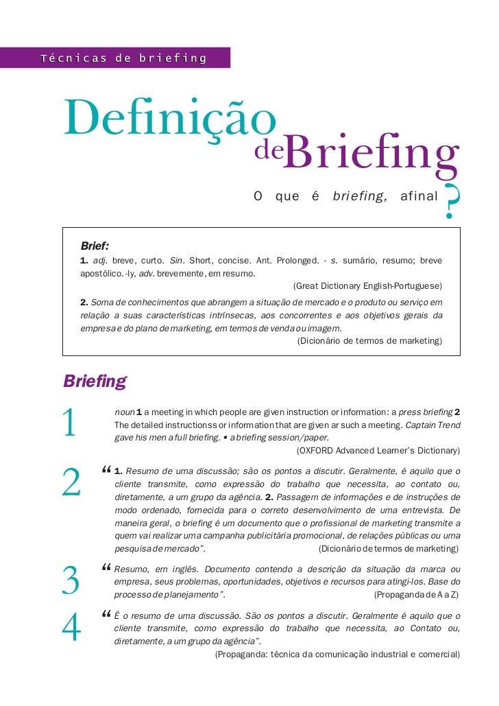 Definição de Briefing