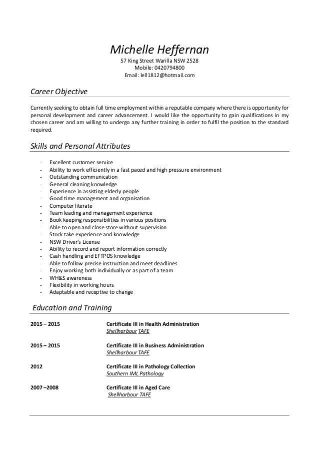 heffernan updated resume 2015