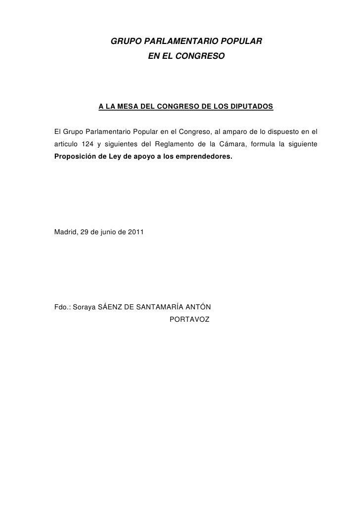 GRUPO PARLAMENTARIO POPULAR                              EN EL CONGRESO             A LA MESA DEL CONGRESO DE LOS DIPUTADO...