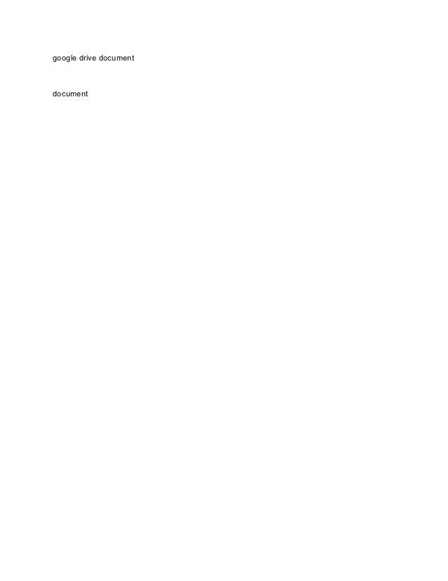 google drive documentdocument
