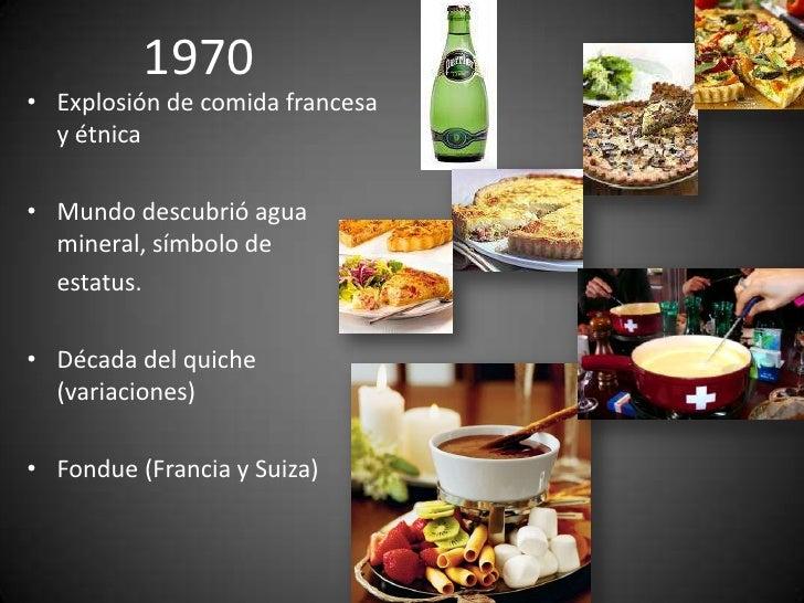 Historia y evolucion de la cocina gourmet 5 decadas de for Caracteristicas de la gastronomia francesa