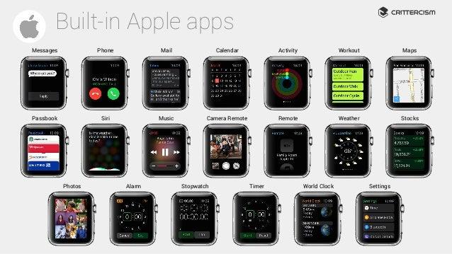 built-in Apple Watch apps