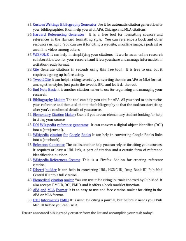 Annotated Bibliography Maker Free