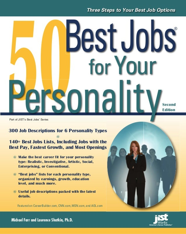 50                                                      Three Steps to Your Best Job Options    Best Jobs                 ...