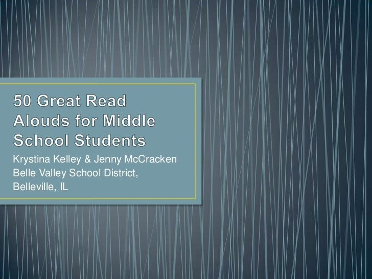 50 great read alouds for middle school students