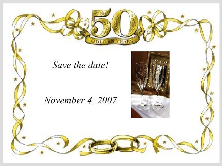 Save the date! November 4, 2007