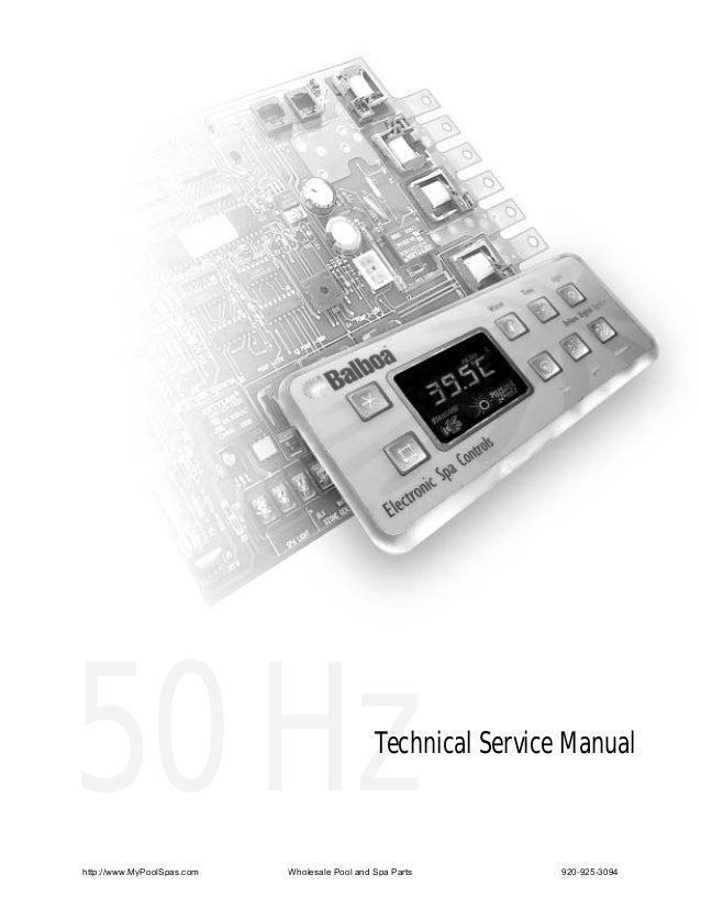 50 Hzhttp://www.MyPoolSpas.com                                               Technical Service Manual                     ...