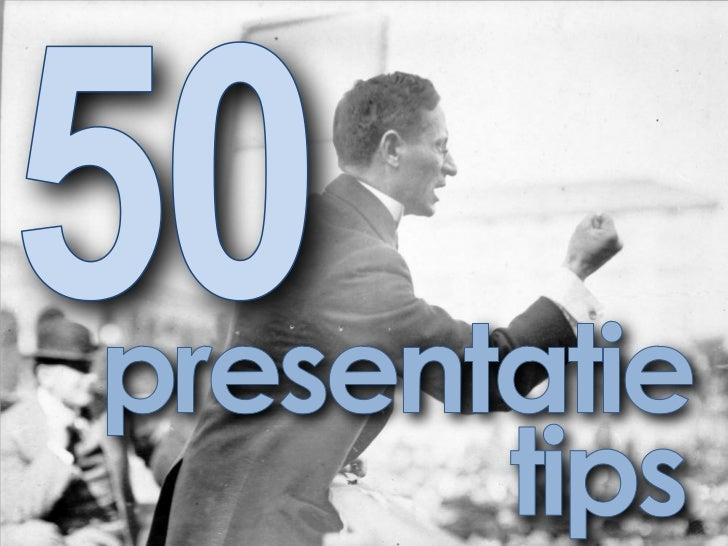 50 presentatietips & trucs