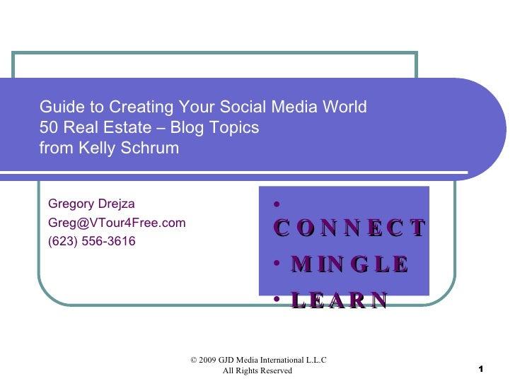 50 Real Estate Blog Topics
