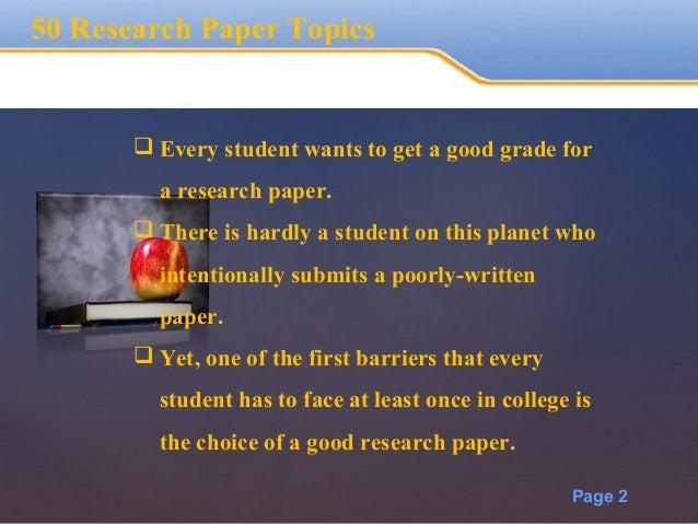 Essay Research Topics