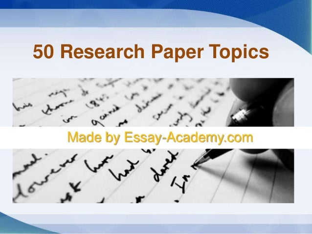 Education research question topics for research papers