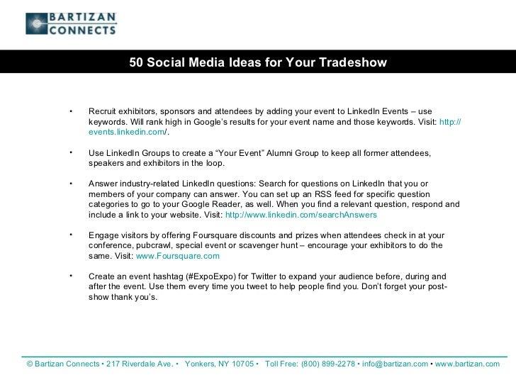 Event Social Media Ideas 50 Social Media Ideas For Your