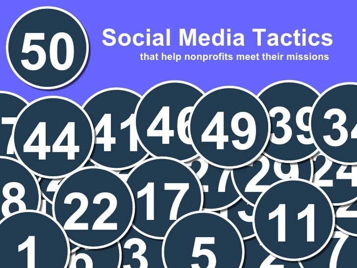 50 Social Media Tactics to Help Nonprofits Meet their Missions